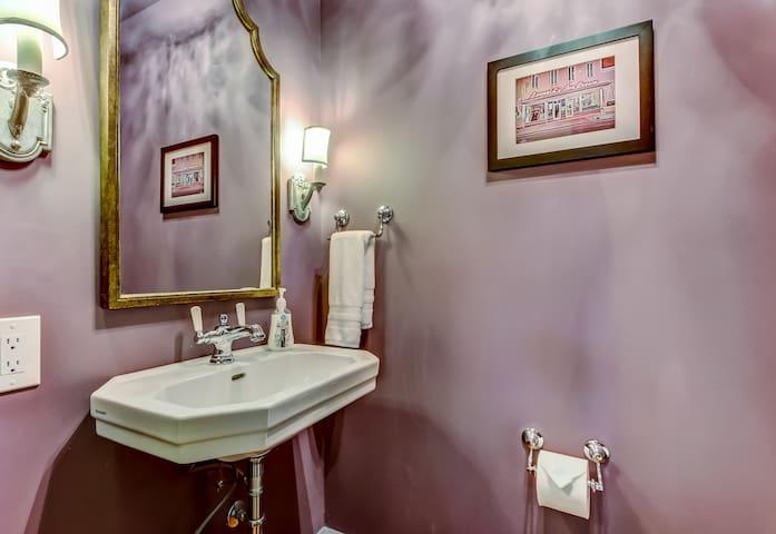 Half bathroom downstairs.