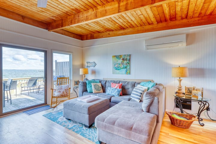 Walk to beach from this stunning home w/ unobstructed views!
