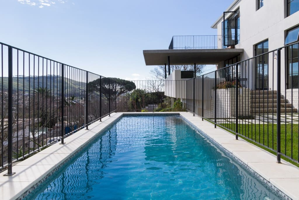 With a pool in the front yard and soccer pitch in the backyard - perfect for families with kids or groups of friends who want to enjoy a Cape Town summer together.