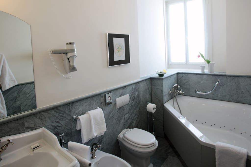 Marble bathroom with all the amenities you may require