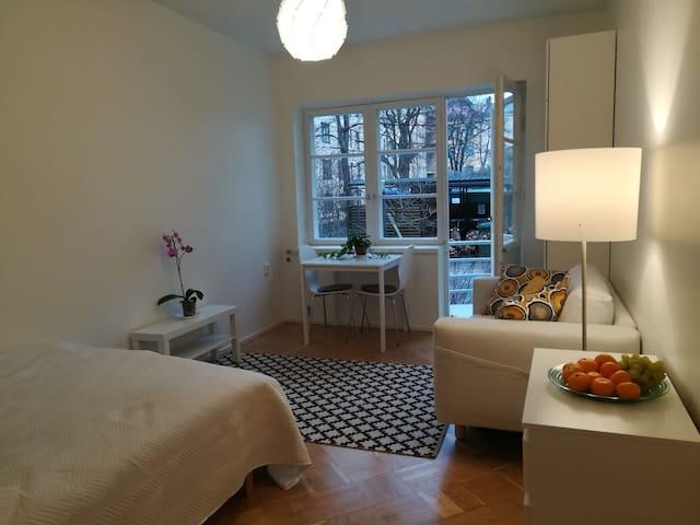 A bright & cosy studio with private balcony