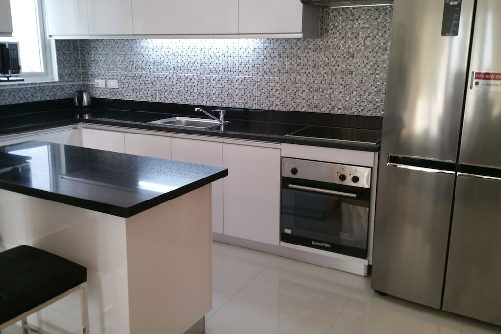 Fully equipped kitchen with imported German oven,