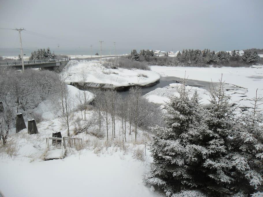 scène d'hiver vue de la galerie