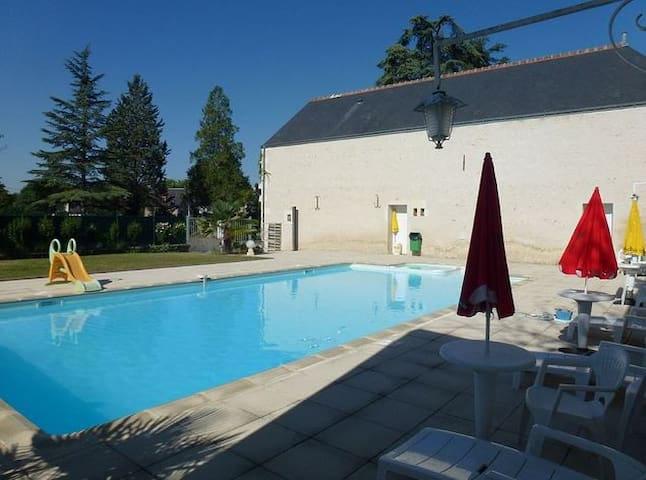 2-bedroom Loire Valley flat w/pool - Chisseaux - Flat