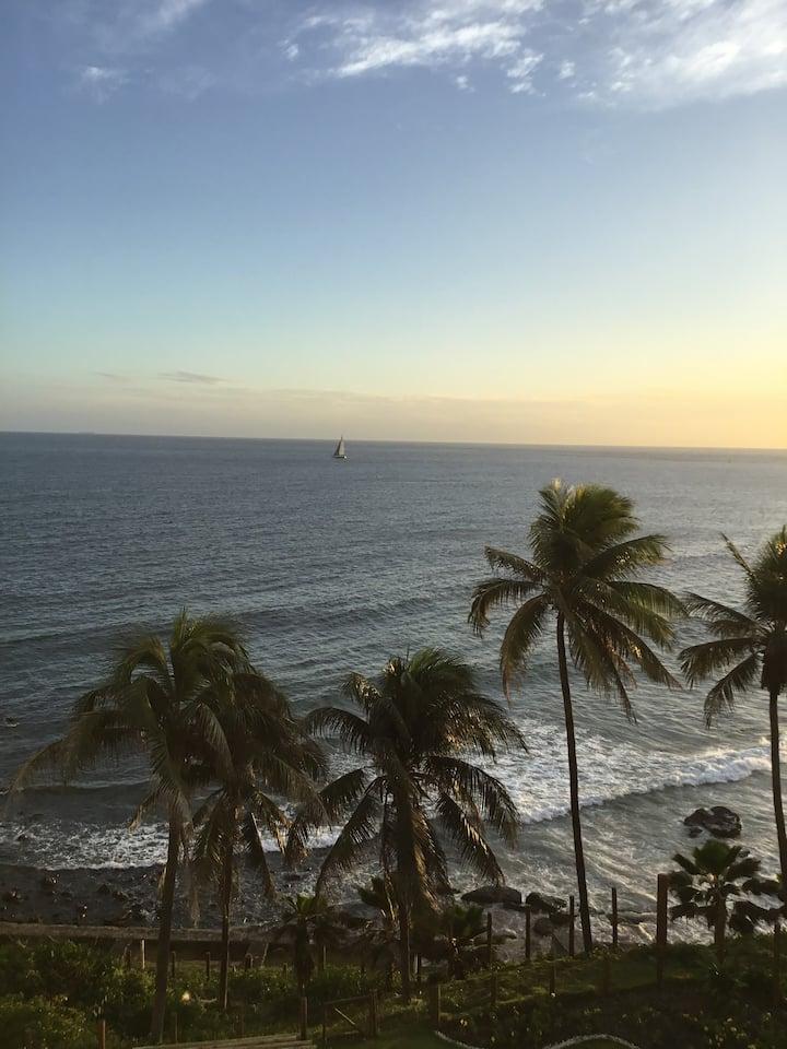 Loft com vista para o mar