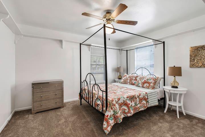 Bedroom 1: Queen Gel Memory Foam bed means a great night of sleep.