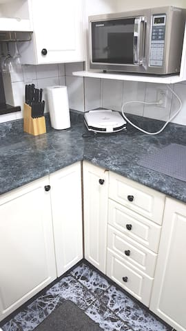 Kitchen Countertop & Microwave