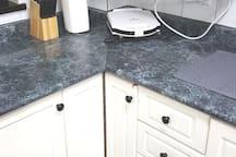 Kitchen Countertop & Microwave