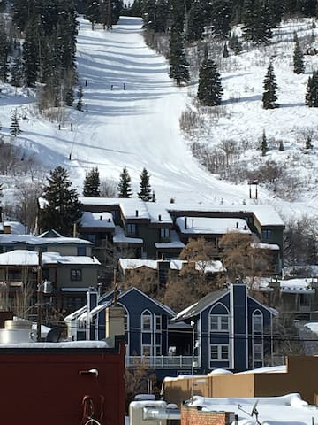 Blue Church Town home with Park City Report run in the back ground