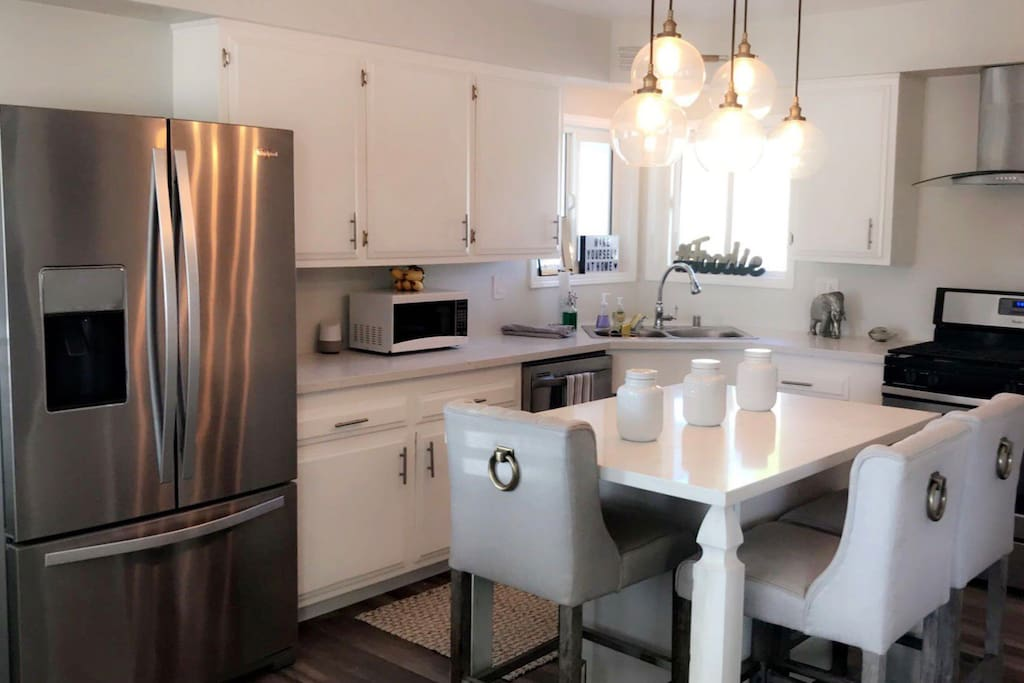 Open floor kitchen plan. All stainless steel appliances. Everything you will need to feel at home