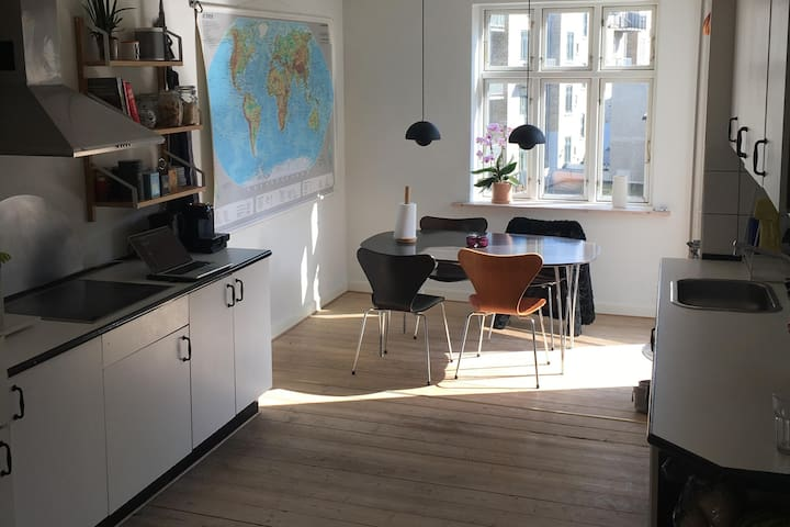 Nice apartment with balcony in the heart of Aarhus