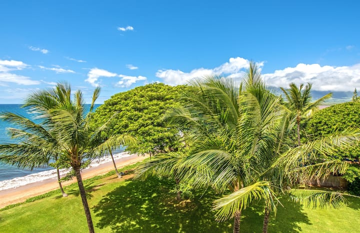 KR608-Partial Ocean View - Great West Maui Mountains and Maalaea Bay Views!
