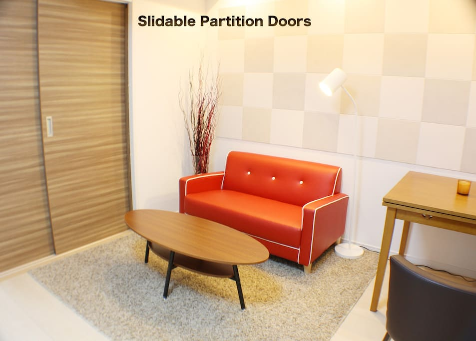 If you are bringing extra guests, both you and your friend can have some privacy by closing the sliding doors.