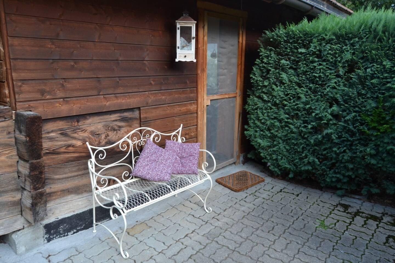 Zugang zum Cottage.