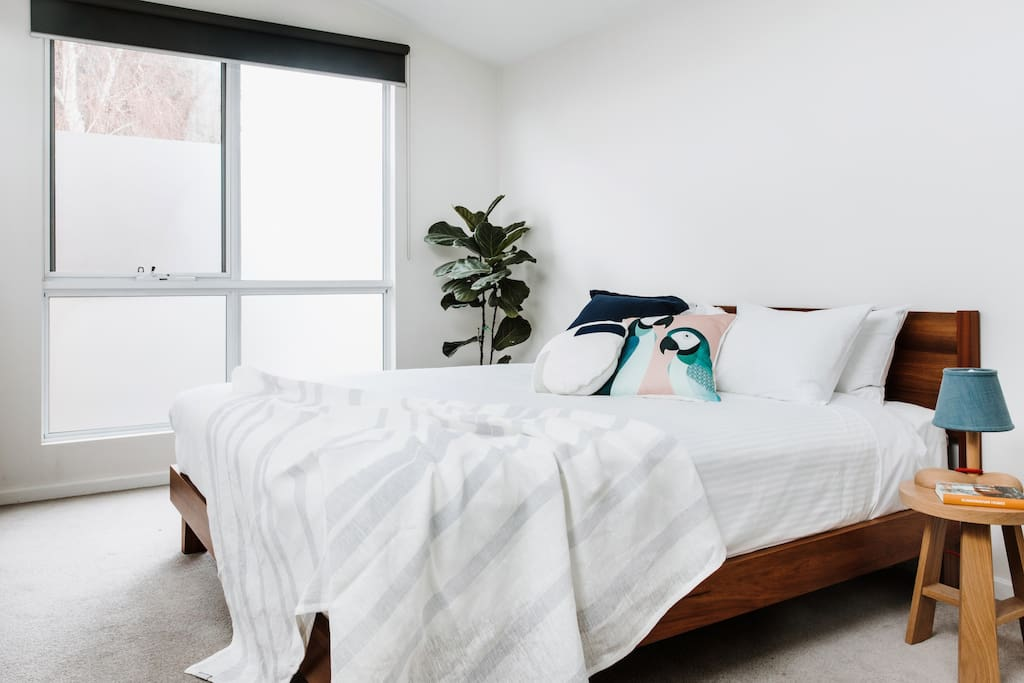 You'll love the comfy queen bed