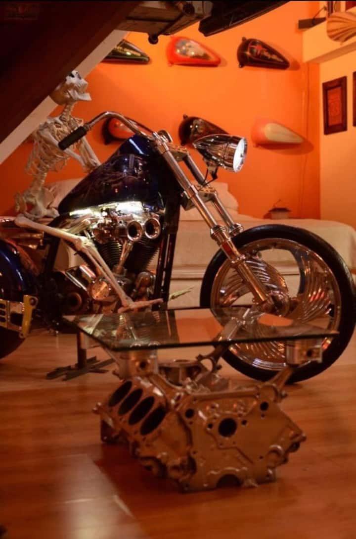 Motor house para los amantes de las motos
