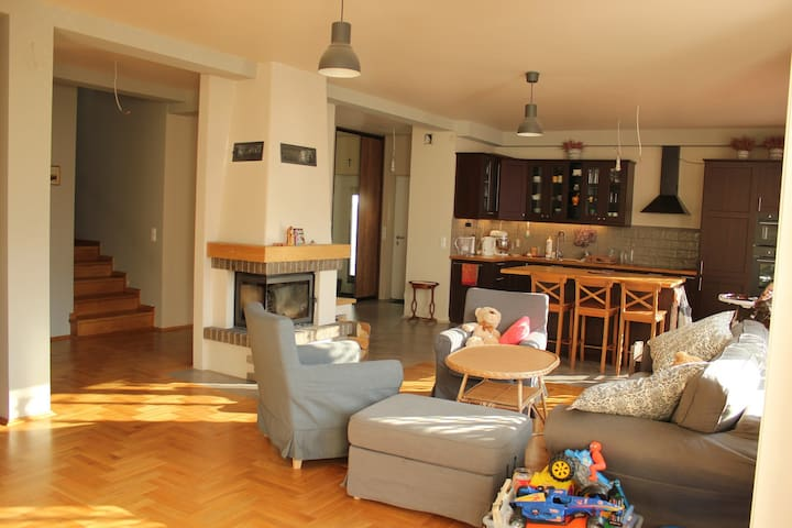 Beautiful large apartment with 4 bedrooms + garden - Kraków-Krowodrza - Appartement