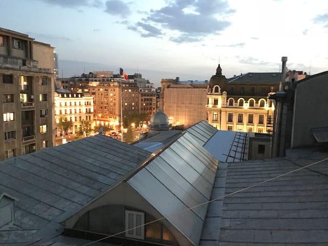 Rooftop Studio in the Heart of Bucharest