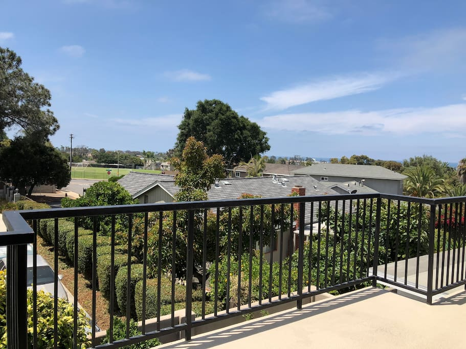 Panoramic ocean views (South View) from large deck
