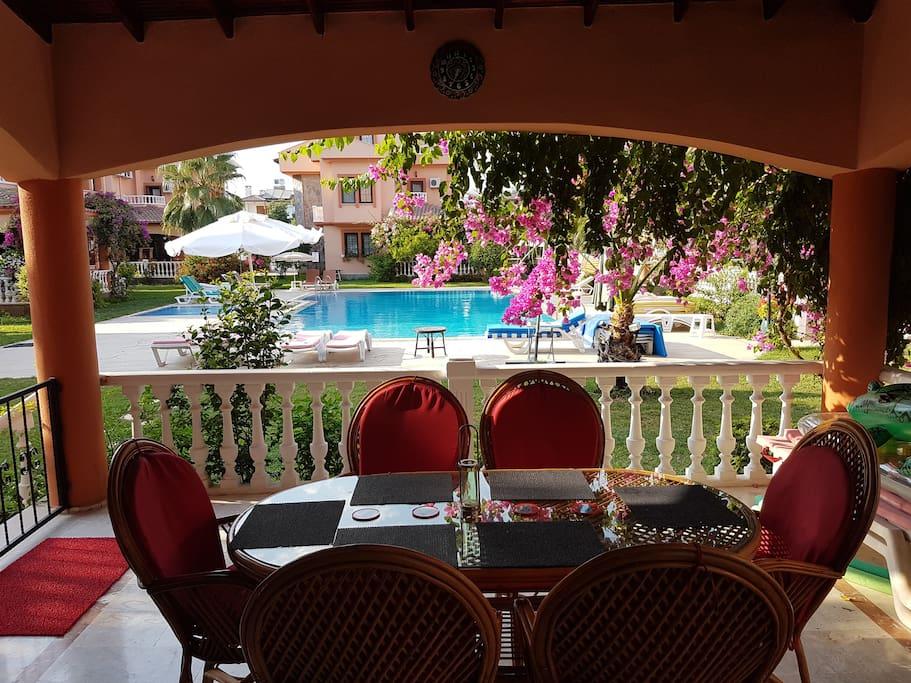 Comfortable cool terrace