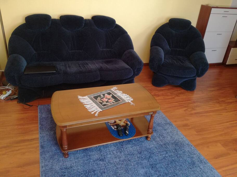 большая комната. диван кровать. saloon with sofa bad. salotto con divano letto.