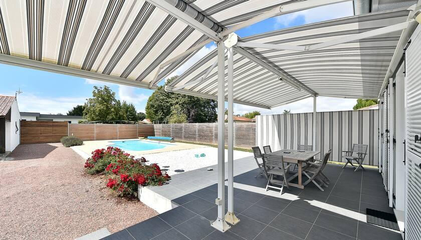 Maison 3 chambres piscine, calme 10mn La Rochelle