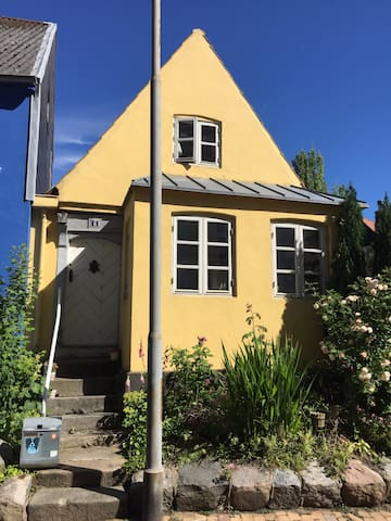 A room in the little yellow house near the beach