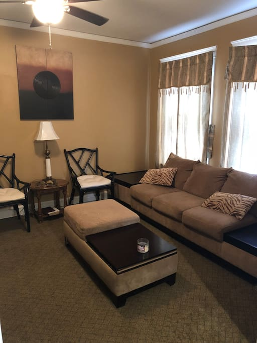 Bedroom #1 also comes along with complimentary access to Commons Area also(living room). Located on the main level downstairs.