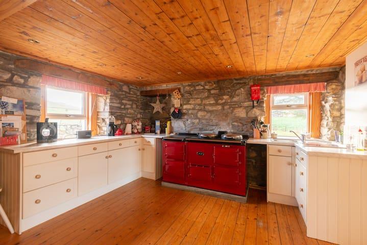 Big family kitchen with AGA stove