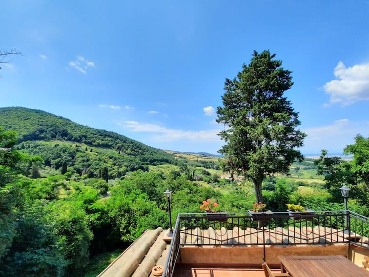 Typical tuscan country house (terrace with view)