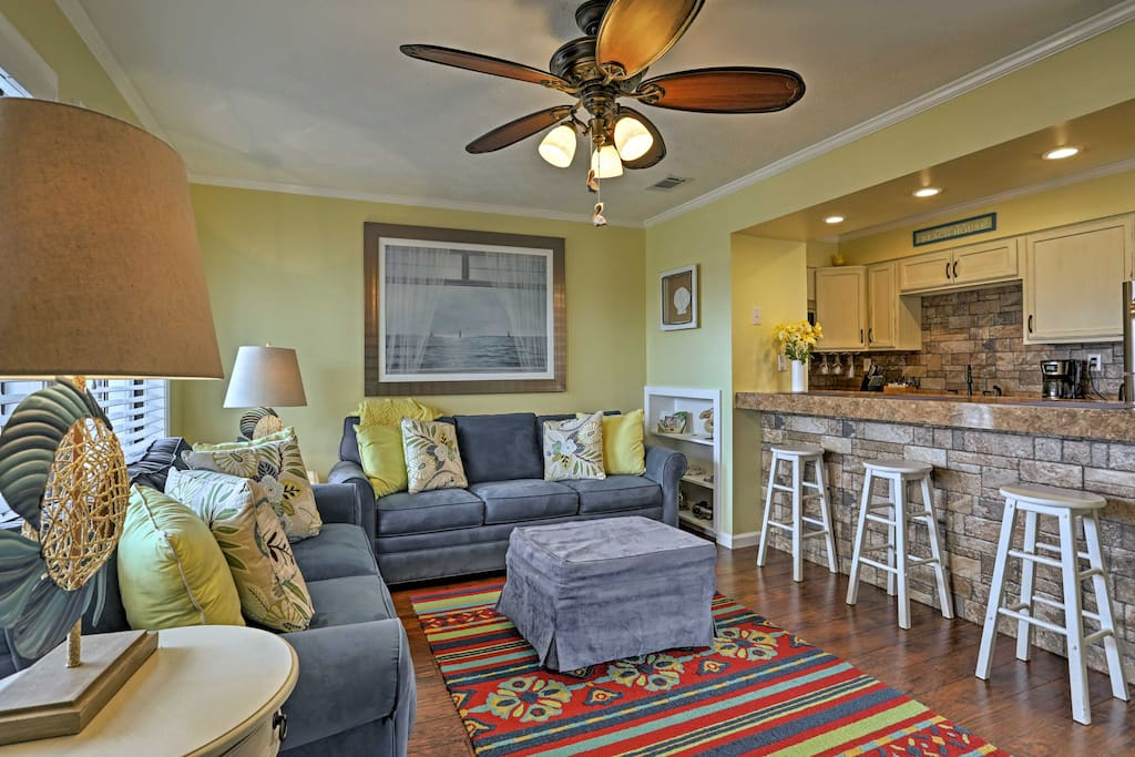The tastefully decorated and renovated  condo is just steps from the beach!