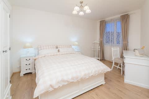 Quaint Riverside White Apartment