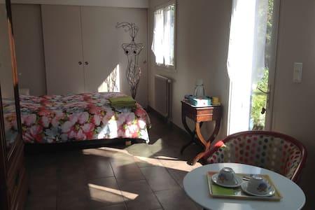 Grande chambre avec accès privé - Orléans