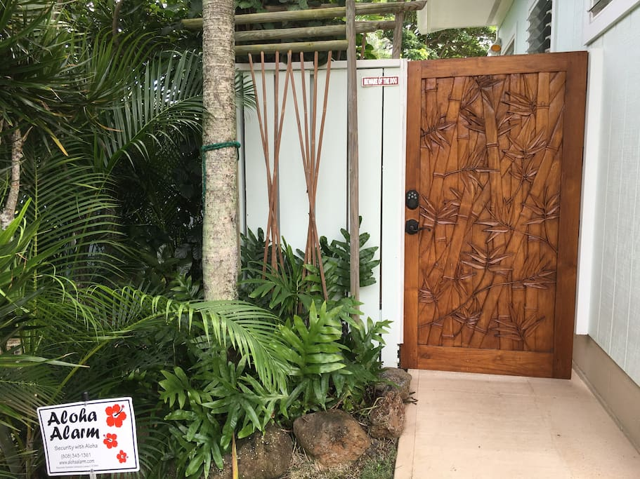 Secure private gate w/ entry code