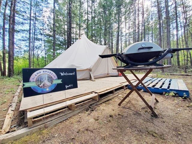 Yurt 1 at Glamp Spuzzum- Explore the Fraser Canyon