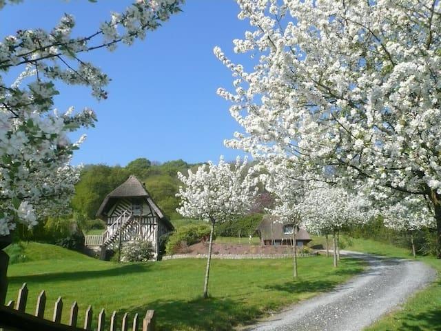 Chaumière normande authentique, vue exceptionnelle - Marais-Vernier