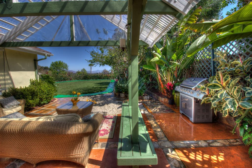 Large covered patio with great views and a daily ocean breeze