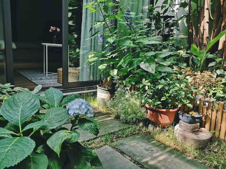 「随柳」观前街老宅一楼带独立庭院大床房,独立卫浴,近平江路拙政园苏博。