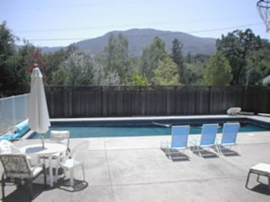 View from Pool to Sonoma Mountain