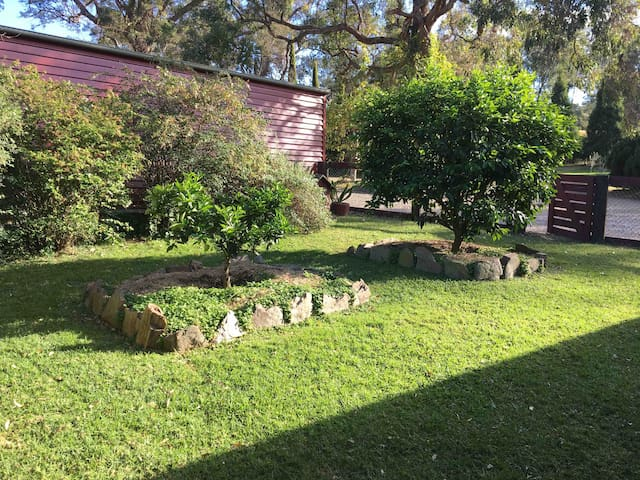 Enclosed yard suitable for little ones & pets