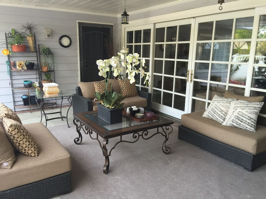 Lovely covered patio, connected to your bedroom and your private entrance.