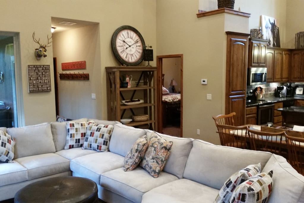 Great room with ample, comfortable seating.