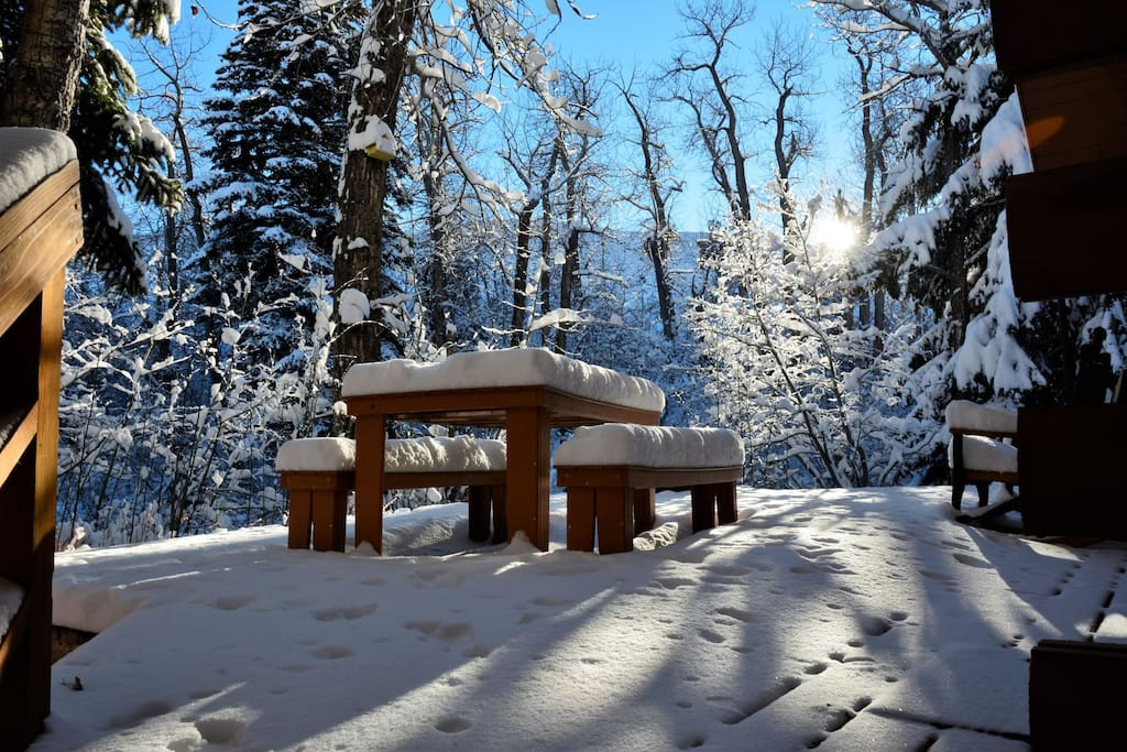 Great cabin in the winter