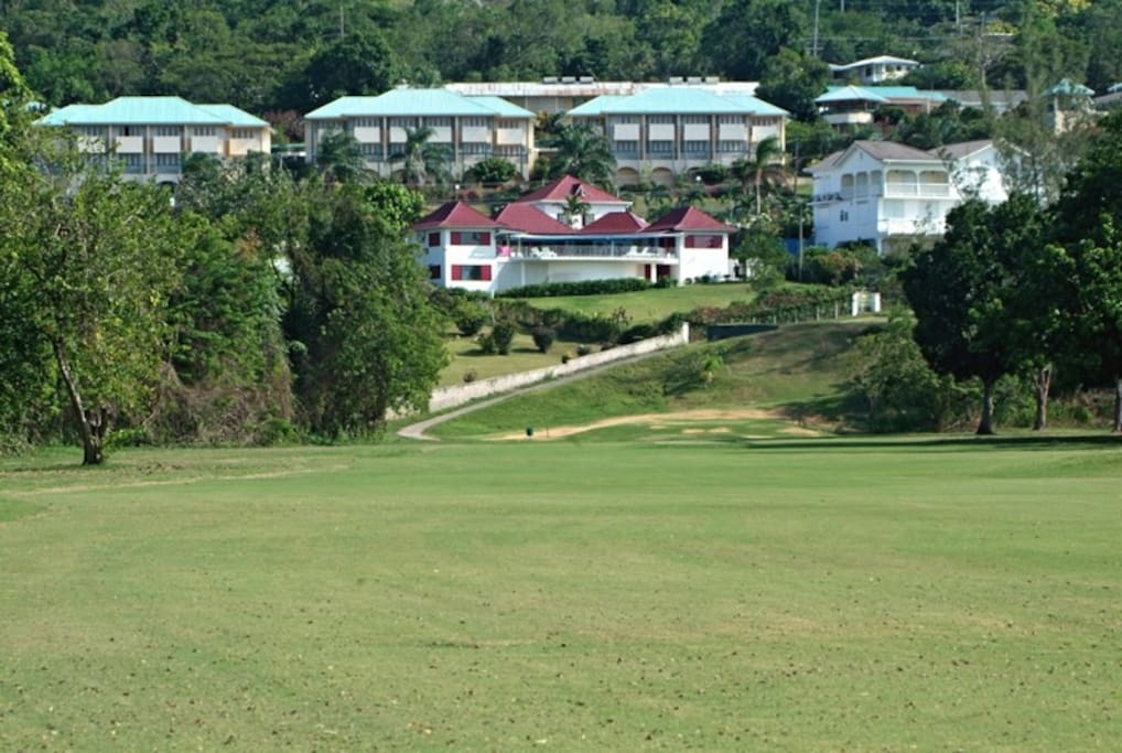View of villa from golf course