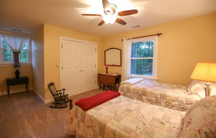 #4 Upstairs bedroom  Two twin size w/ double mattress in closet