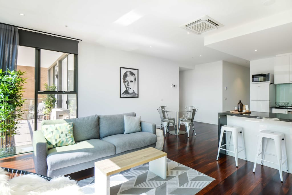 Living, Dining, Kitchen and Balcony