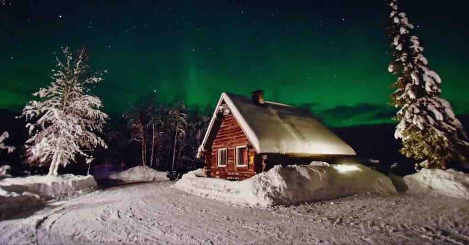 Aurora cabin near Levi.Airport trsfr+breakfast inc