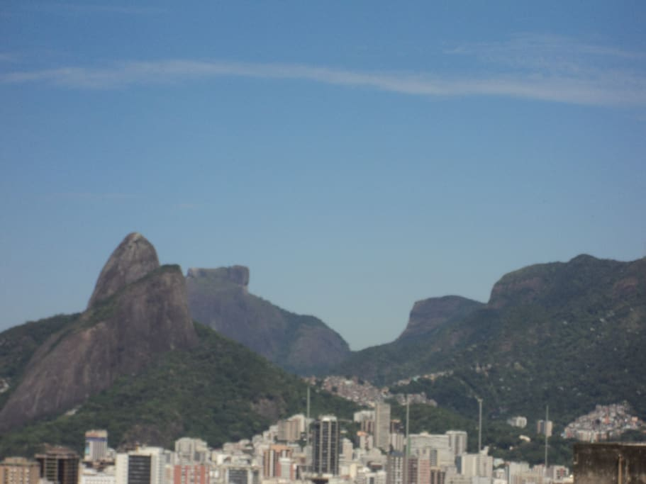 View of Dois Irmaos, Pedra da Gavea and Pedra Bonita Seen from bedroom