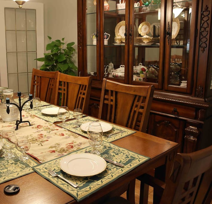 The dining room for guests