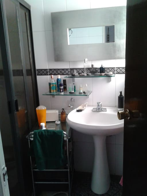 Naturally ventilated and iluminated bathroom just beside the room